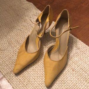 Yellow Daisy Fuentes heels size 8.5